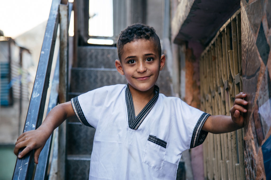 Boy in Amman New (Wihdat) camp. © 2018 UNRWA Photo by Francesco Andriollo