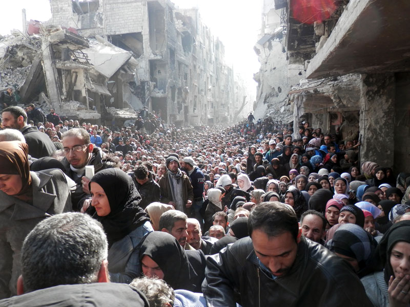 UNRWA's Iconic Syria image to go up in New York's Times Square and in Tokyo's Shibuya District   UNRWA