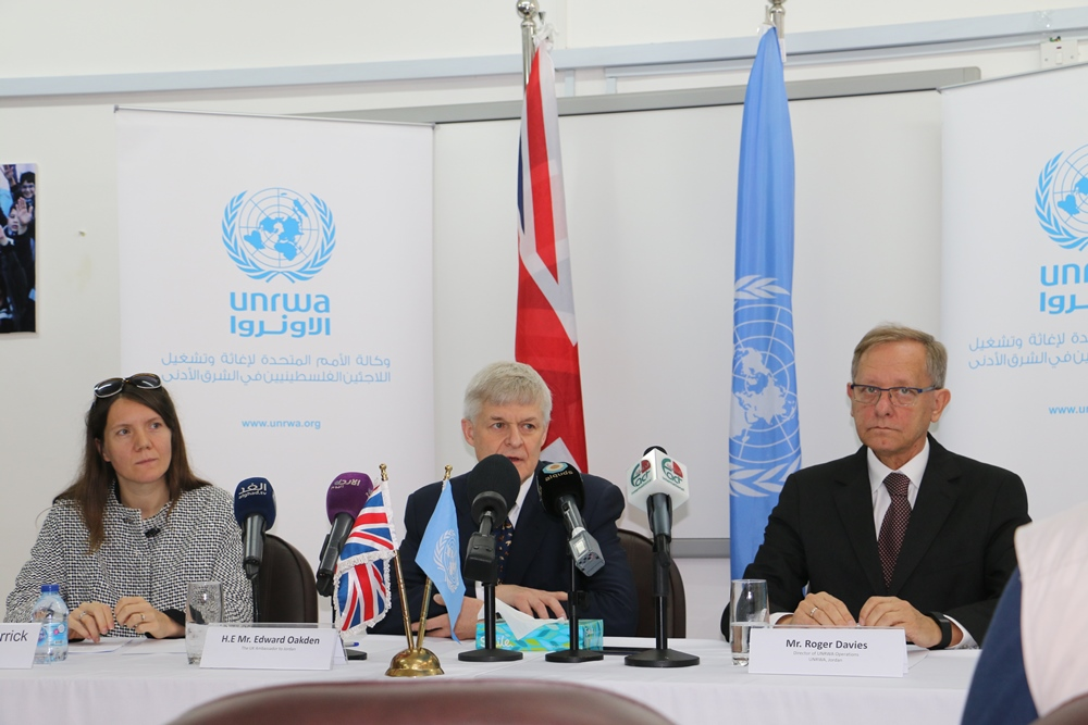 UNRWA and the United Kingdom Launch a Multi-Year Agreement