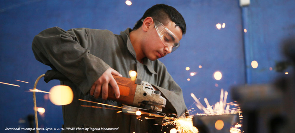 Vocational training in Homs, Syria. © 2016 UNRWA Photo by Taghrid Mohammad