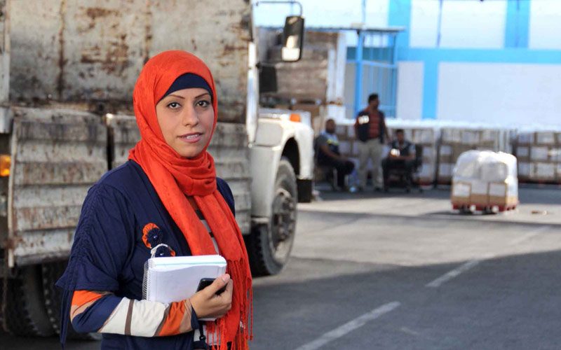 Gaza One Year Later: Wafa Nassman, UNRWA logistics assistant, September 2014