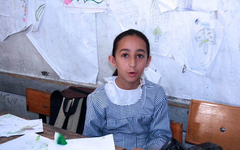 Gaza One Year Later: Malak Musleh, 9, May 2015