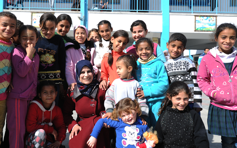 Susan al-Dabba, UNRWA Collective Centre Manager, March 2015
