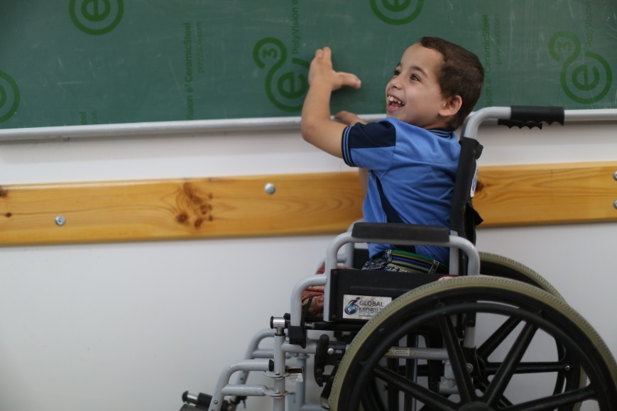 6-year-old Palestine refugee student Mohammed Al Sharif during a class at the Rafah UNRWA Elementary Co-ed C School. © 2016 UNRWA Photo by Mohammad Al Hennawi