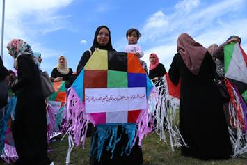 UNRWA Gender Initiative organized a celebration of International Women's Day in the UNRWA Technical and Vocational Training Centre in Khan Younis. Photo credit: © UNRWA Gaza 2016. Photo by Reham Ghazali.