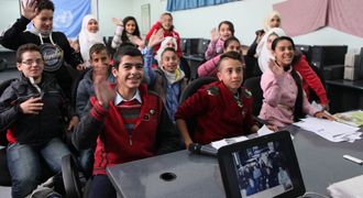 Ramleh/al-Shajarah  School,  Homs, 16 November © 2015 UNRWA Photo by Taghrid  Mohammad