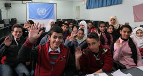 #MyVoiceMySchool. © UNRWA Photo