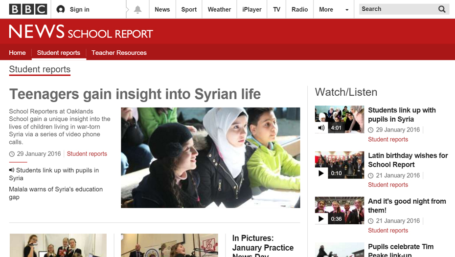 BBC story on #MyVoiceMySchool