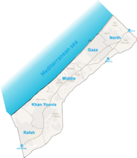 Gaza map - crossings