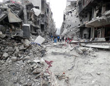 In 2014, the besieged suburb of Yarmouk became a symbol of civilian suffering. As of January 2015, 18,000 Palestine refugees remain trapped in the area. Ongoing insecurity has prevented UNRWA from completing a food distribution since 6 December 2014. UNRWA is extremely concerned about the deteriorating humanitarian condition of civilians in Yarmouk, who survive without food, potable water, access to health services and electricity. © 2014 UNRWA