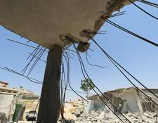 A demolished house in the West Bank. In response to the upsurge in violence in the West Bank since October 2015, UNRWA has launched various initiatives and expanded its programmatic interventions to mitigate the impact of the current situation on children. © 2016 UNRWA Photo