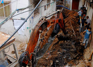 land blockade on the Gaza Strip