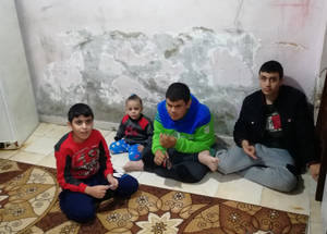 "Zaki (2nd from left) is a six-year-old Palestine refugee living the Sabra refugee camp in Lebanon with his mother and father and three brothers. He has intellectual impairment and had been attending Kindergarten at the Social Welfare Institution covered by the UNRWA/UNICEF special education scholarship. During the lockdown, he was obliged to stay at home with his three brothers, who also have cognitive development and neurological disorders. As his parents lacked the necessary skills to provide support, it was not possible for Zaki to engage in remote schooling, or even organized play.  Rachelle El Hasrouny, an UNRWA Special Education Needs specialist in Lebanon, provided guidance to his parents by phone on how to manage his emotions and behaviour:  ""The COVID-19 lockdown added pressure on children with disabilities. [ ] Zaki and his family had to cope with isolation and the new remote learning approach that was all of a sudden imposed on them. This can cause regression of the learning and development."" © 202"