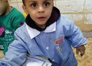 Thanks to the persistent intervention of the Ms. El Hasrouny and the team, Zaki was re-admitted to the Social Welfare Institution once the lockdown was lifted. He is now making good progress and the teachers describe Zaki as being 'very enthusiastic, very open to learn, focused, not agitated, with enhanced fine motor skills and coordination.' He is communicating appropriately with his classmates and teachers, articulating words correctly. If he keeps it up, his teachers expect Zaki to be able to attend a regular school next year. © 2020 UNRWA Photo.
