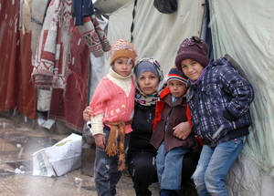 Collective shelters host some of the most vulnerable Palestine refugees in Syria, including female-headed households, children, the elderly and the disabled. Ara School Collective Shelter, Damascus, 2015. © UNRWA/Taghrid Mohammad.