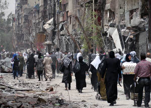 Yarmouk residents are experiencing profound suffering. UNRWA is alarmed and concerned by the grave deterioration in the humanitarian situation in Yarmouk and calls for immediate recourse to negotiations to facilitate entry of essential assistance. © 2014 UNRWA Photo