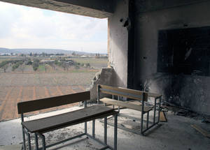 The four UNRWA schools in Husseinieh have sustained varying degrees of damage. Husseinieh, February 2015. © 2015 UNRWA Photo by Taghrid Mohammad