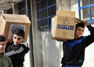 Youth unemployment across Syria reached 82 per cent in 2014, and is estimated to be higher amongst Palestine refugees. The UNRWA emergency relief programme, financed by donors such as the ERF, provides some rare stability for refugees who have no other reliable source of income. February 2015. © 2015 UNRWA Photo by Ahmad Abu Zeid