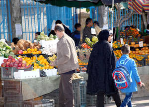 "Prices for fresh food in Syria have risen dramatically, putting them out of reach for many Palestine refugees. Mother of three Ibtisam Hassan says, ""Meat and chicken are getting expensive. We cannot afford them and my children understand that. We have exhausted all our savings."" Damascus, November 2014. © 2014 UNRWA Photo by Taghrid Mohammad"