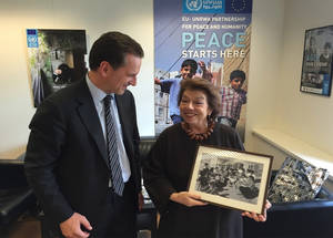 H.E. Leila Shahid, Ambassador of Palestine to the EU, Belgium and Luxembourg. Credit: © UNRWA