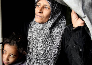 Over 12,500 Palestine refugees and Syrians live in UNRWA collective shelters, including vulnerable groups such as female-headed households, the disabled and the elderly. © 2014 UNRWA Photo by Taghrid Mohammad