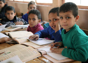 Education is an important source of hope for the future and provides a distraction from insecurity and upheaval. Displaced children are absorbed into local UNRWA schools. © 2014 UNRWA Photo by Taghrid Mohammad