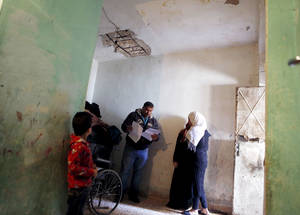 The UNRWA team of protection social workers  are dedicated to identifying and responding to protection concerns, such as separated children and families at risk of forced return.  For special cases, UNRWA has forged select parternships to help address particular Palestine refugee concerns such as access to legal aid. Amman, March 2015 © 2015 UNRWA Photo