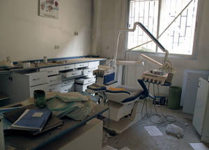 UNRWA faces challenges in providing health services in Syria, including the damage and destruction of facilities such as this health point in Husseinieh, near Damascus, and the flight of qualified and experienced staff.  © 2015 UNRWA Photo by Taghrid Mohammad
