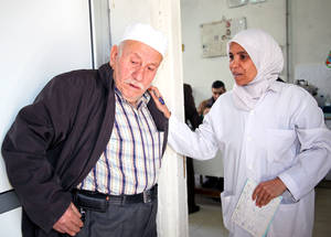 Despite the challenging operational environment, UNRWA is committed to providing robust health care services to the Palestine refugee population in Syria. With donor support, particularly that of the United States, UNRWA provided 955,190 healthcare consultations in 2014. © 2015 UNRWA Photo by Taghrid Mohammad