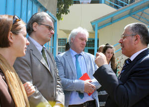 AdCom chair Per Orneus visits UNRWA facilities at Ein el Hilweh Camp in Lebanon. © 2015 UNRWA Photo by Abdelnasser Alsaadi