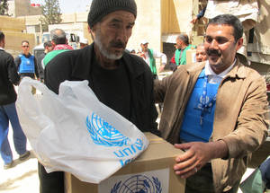UNRWA's priority remains the delivery of humanitarian aid to civilians within Yarmouk itself. The Agency reiterates its demand for respect and compliance with obligations to protect civilians and to establish secure conditions under which the Agency can deliver life-saving humanitarian assistance. ©UNRWA 9 May 2015.