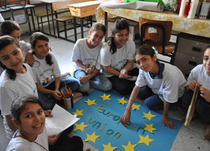 EU Summer Fun Camps in UNRWA schools across the West Bank. © 2015 UNRWA Photo by Riham Jafary.