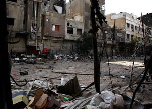 Syria's economy and infrastructure have been devastated. A recent UN report found that the country's economy has lost US$ 202.6 billion since 2011. Yarmouk, Damascus. © 2015 UNRWA Photo by Taghrid Mohammad