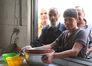 Displacement has compounded the impoverishment of Palestine refugees, who have left behind their incomes and livelihoods. More than 50 per cent of the 480,000 Palestine refugees remaining in Syria have fled their homes at least once. © 2015 UNRWA Photo by Taghrid Mohammad