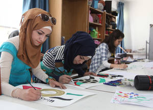 In 2014, 67.7 per cent of the 5,678 young Palestine refugees who completed youth development courses were female. These courses are designed to give students skills for volunteerism in the face of reduced employment opportunities. © 2015 UNRWA Photo by Taghrid Mohammad