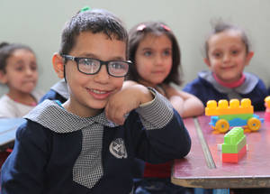 Education is an essential tool in breaking the cycle of poverty and mitigates the effects of conflict on children. In the longer term, it helps ensure that young Palestine refugees can contribute positively to a post-conflict society. Support from the EU contributed to the schooling of 47,000 Palestine refugee children in 2014-2015. © 2015 UNRWA Photo by Taghrid Mohammad.