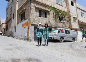 Maria loves her school, but wishes that her school would become more organized. She complains about the crowded classrooms, noting that there are 42 girls in her class, making it difficult to fully participate. © 2015 UNRWA Photo by Sahem Rababa