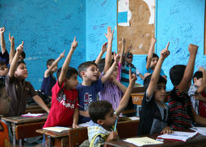 During the summer of 2014, the support of EAC enabled UNRWA to provide 13,261 children with psychosocial support, catch-up classes, tutoring and recreational activities in 63 summer learning centres. © 2014 UNRWA Photo by Taghrid Mohammad