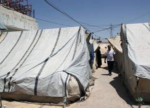 More than 280,000 Palestine refugees in Syria have been displaced at least once. Inadequate or overcrowded living conditions increase the risk of water and sanitation-related and communicable diseases, including hepatitis, scabies, skin infections and diarrhea. Khan Danoun, Damascus. ©2015 UNRWA Photo by Taghrid Mohammad
