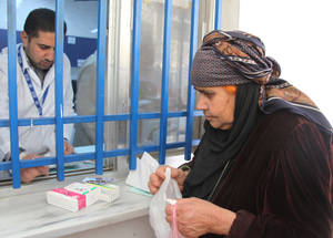 Amidst ongoing insecurity and inadequate living conditions, Palestine refugees increasingly suffer from non-communicable diseases including diabetes and hypertension.  Qabr Essit, Damascus. ©2015 UNRWA Photo by Taghrid Mohammad