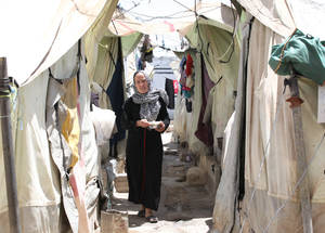More than 280,000 Palestine refugees in Syria have been internally displaced at least once, leaving behind their homes, family members and livelihoods. Another 80,000 Palestine refugees have fled to neighbouring countries including Jordan and Lebanon, where they face an uncertain future and limited legal options. © 2015 UNRWA Photo by Taghrid Mohammad