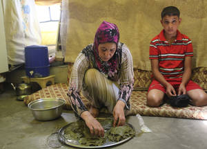 Most recipients of EU-funded cash assistance spend the largest part of their cash assistance (71 per cent) on food and rental costs, which have risen sharply as a result of soaring inflation in Syria. The price of rice, a staple in the Middle Eastern diet, has risen by 500 per cent since the start of the crisis in 2011. A recent evaluation by UNRWA found that beneficiaries are able to ensure a minimum daily calorie intake with the help of the cash assistance. © 2015 UNRWA Photo by Taghrid Mohammad