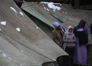On the 7 January 2015, a heavy winter storm hit the Middle East, bringing sub-zero temperatures, rain and snow to the region. The storm worsened the suffering of the 480,000 Palestine refugees living in Syria at the time, who were already struggling to survive amid the ongoing conflict. UNRWA provided families with mattresses and blankets to help them keep warm during the season. Jaramana camp, Damascus © 2015 UNRWA Photo by Taghrid Mohammad