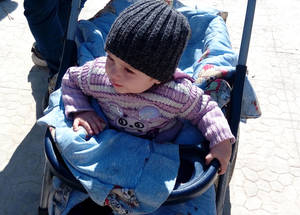 Children face high risks of WASH-related diseases and under-nutrition due to the poor quality of water in Yarmouk. Yalda,  17 February 2016.  © 2016  UNRWA Photo