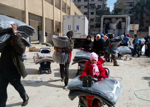 UNRWA seeks to bring a mobile health team in the coming week to provide much-needed basic primary health care. Yalda, Damascus. © 2016 UNRWA Photo