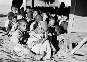 The first UNRWA schools were set up in tents. © 1950 UNRWA Archive, Photographer Unknown