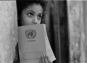 Girl at school in Rafah camp, Gaza. © 1985 UNRWA Archive Photo by Munir Nasr