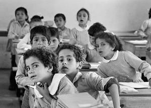 An UNRWA classroom in Beach camp, Gaza. © 1986 UNRWA Archive Photo by Munir Nasr