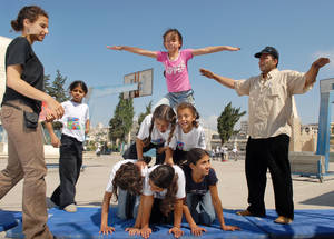 Summer camps in the West Bank. © 2007 UNRWA Photo by Steve Sabella