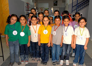 Members of the school parliament at the Girls' School in Sbeineh refugee camp, Syria. © 2010 UNRWA Photo by Isabel de la Cruz